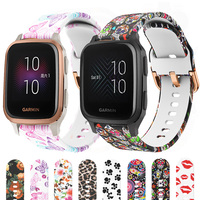 Cinturino in Silicone stampato per Garmin Venu Sq/Sq Music Smart Watch Band sostituibile per Amazfit Bip S Lite GTS hay485 LS02 Correa