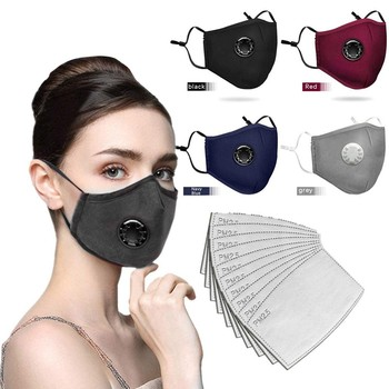 4pcs Face Sheild With 10 Filters Half Face Reusable Activated Carbon Dustproof Respirator Face Swashable Reusable Mascarilla