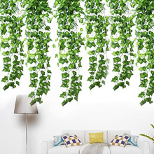 12pcs Fake Ivy Leaves Fake Vines Artificial Ivy Silk Ivy Garland Greenery Artificial Hanging Plants for Wedding Home Decor