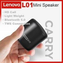 Lenovo L01 Drahtlose Bluetooth Lautsprecher Portable Outdoor Wasserdicht Lautsprecher Mini Spalte Stereo Musik Surround Bass Box Mic