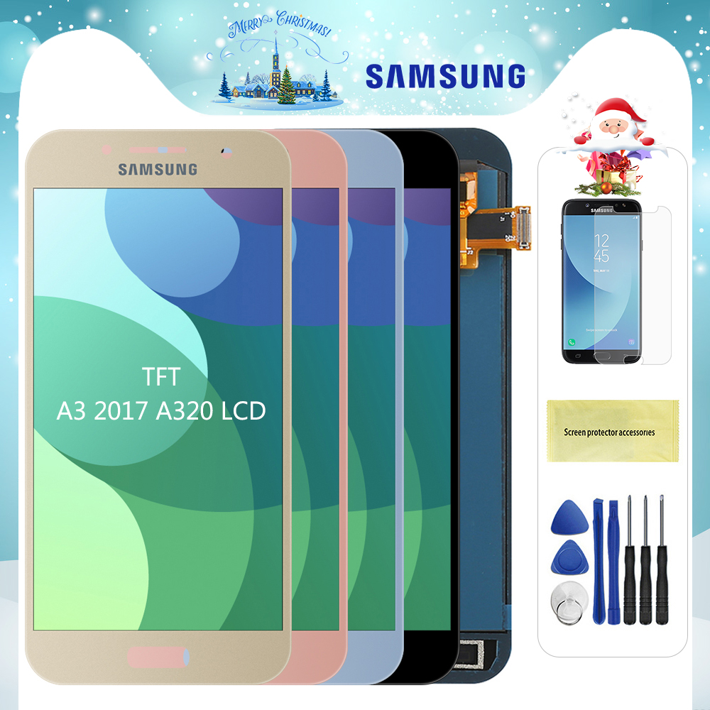 For <font><b>Samsung</b></font> Galaxy A3 2017 <font><b>LCD</b></font> <font><b>A320</b></font> SM-A320F A320M A320Y <font><b>LCD</b></font> Display Touch Screen Digitizer Assembly For A3 <font><b>A320</b></font> <font><b>LCD</b></font> Screen image