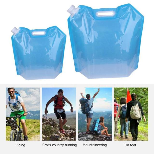 New Folding Water Container PVC Foldable Water Storage Container Water Bags for Sport Camping Hiking Picnic BBQ Water Resistant 3