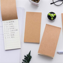 1 pcs Pocket Kraft Paper Memo Pad Notepad Stationery Scrapbooking Memo Notes To Do List Tear Checklist Note Pad School Office Su
