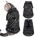 Gato jaqueta de couro cães quentes roupas de gato casaco outono inverno pet roupas filhote cachorro gatinho roupas trajes para chihuahua yorkshire