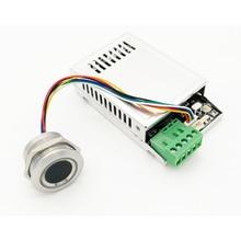 K216 + r503 tempo de relé, placa com controle de impressão digital 0.5s 20s com controle remoto e luz indicadora de anel módulo de impressão digital