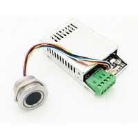 Placa de Control de huellas digitales K216 + Módulo de huella digital R503 anillo de dos colores indicador de luz Control de acceso