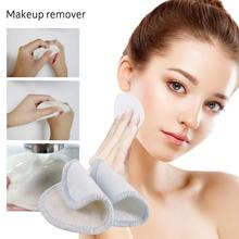16PCS Reusable Makeup Remover Pads 8CM Round Safe Fiber Cleaning For Face Eye Nose Washable Eyeshow Nail Art Pad