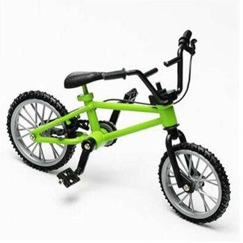 Decoración del hogar 1/10 colección de adultos juguetes para niños dedo BMX rueda móvil Mini bicicleta modelo bicicleta de montaña niños regalo aleación