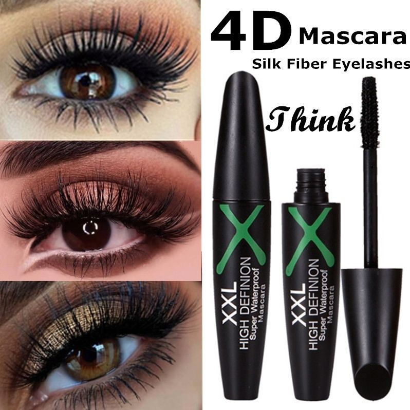 1 Pc 4D Silk Fiber Eyelashes Lengthening Mascara Waterproof Long Lasting Lash Black Eyelashes Extension Make Up 3D Mascara