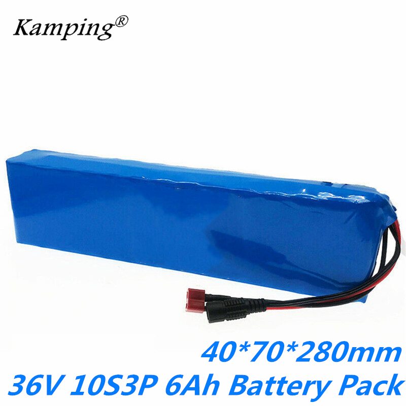 36V 10S3P 6Ah large capacity 18650 <font><b>lithium</b></font> <font><b>battery</b></font> pack for a variety of electric bicycles and <font><b>motorcycles</b></font> built-in 10s <font><b>bms</b></font> image