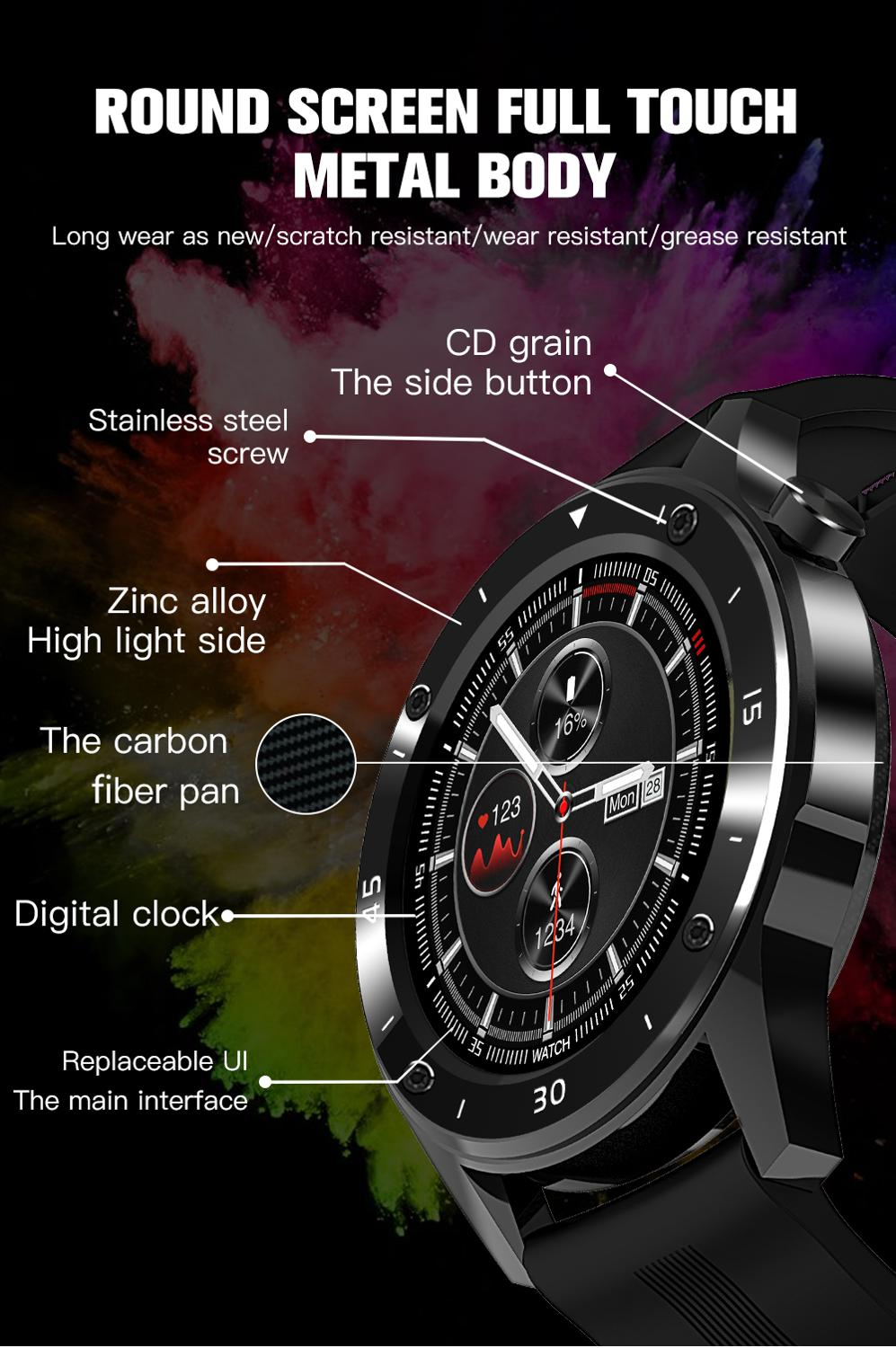 CZJW F22S Sport Smart Watches for man woman 2020 gift intelligent smartwatch fitness tracker bracelet blood pressure android ios 5