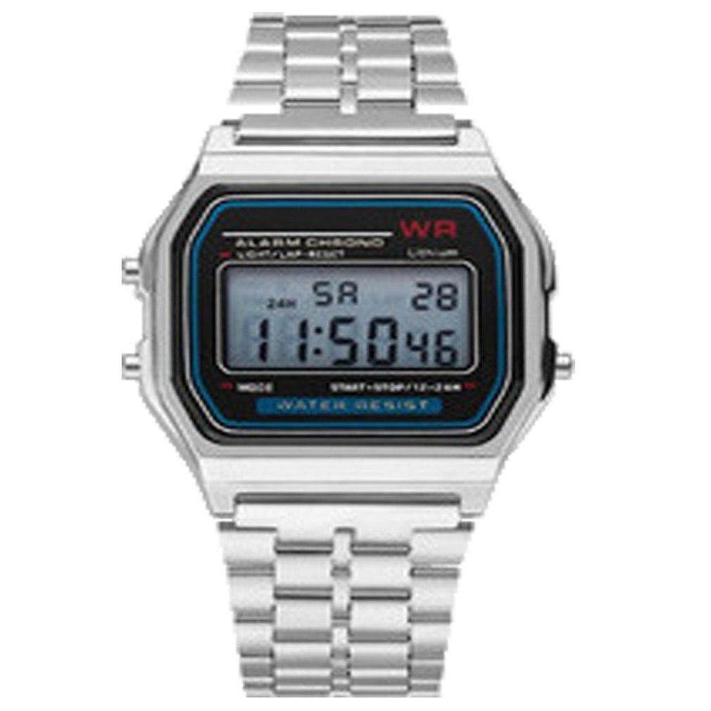 Montre électronique à Led Wr F91W ceinture en acier A159 Harajuku Style montre de mode multi-fonction Led montre de Table