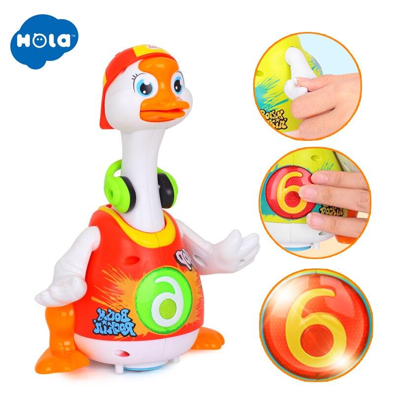 HOLA 828 Hip Hop danse marche balançoire oie Musical cadeau éducatif jouet pour 1 an tout-petits apprentissage jouets éducatifs cadeau - 6
