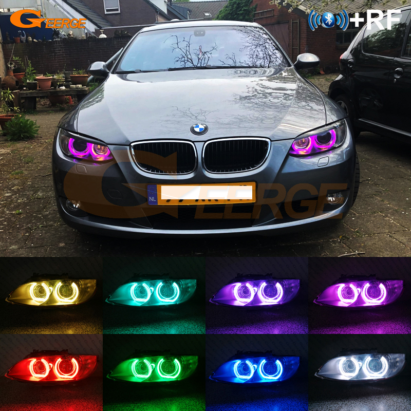 Crystal Angel Eyes Bluetooth 4.0 Wireless RGB LED Controller For BMW E92 Coupe