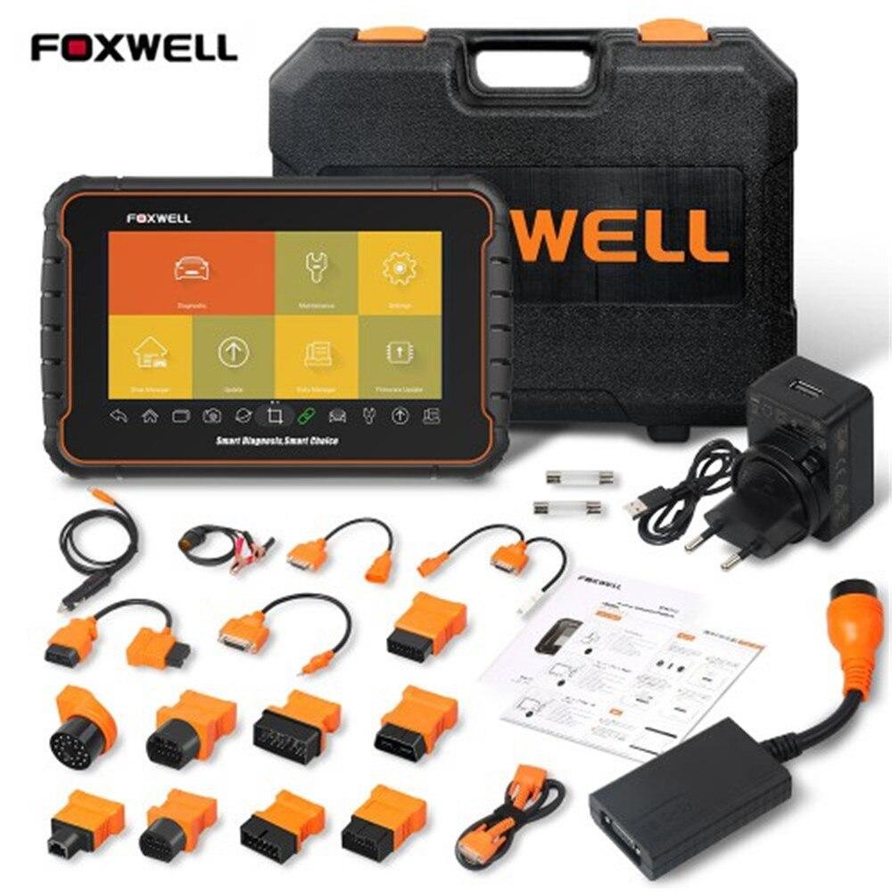 FOXWELL GT60 Plus z zestawem adapterów OBD Premier platforma diagnostyczna Android Tablet pełny skaner systemowy