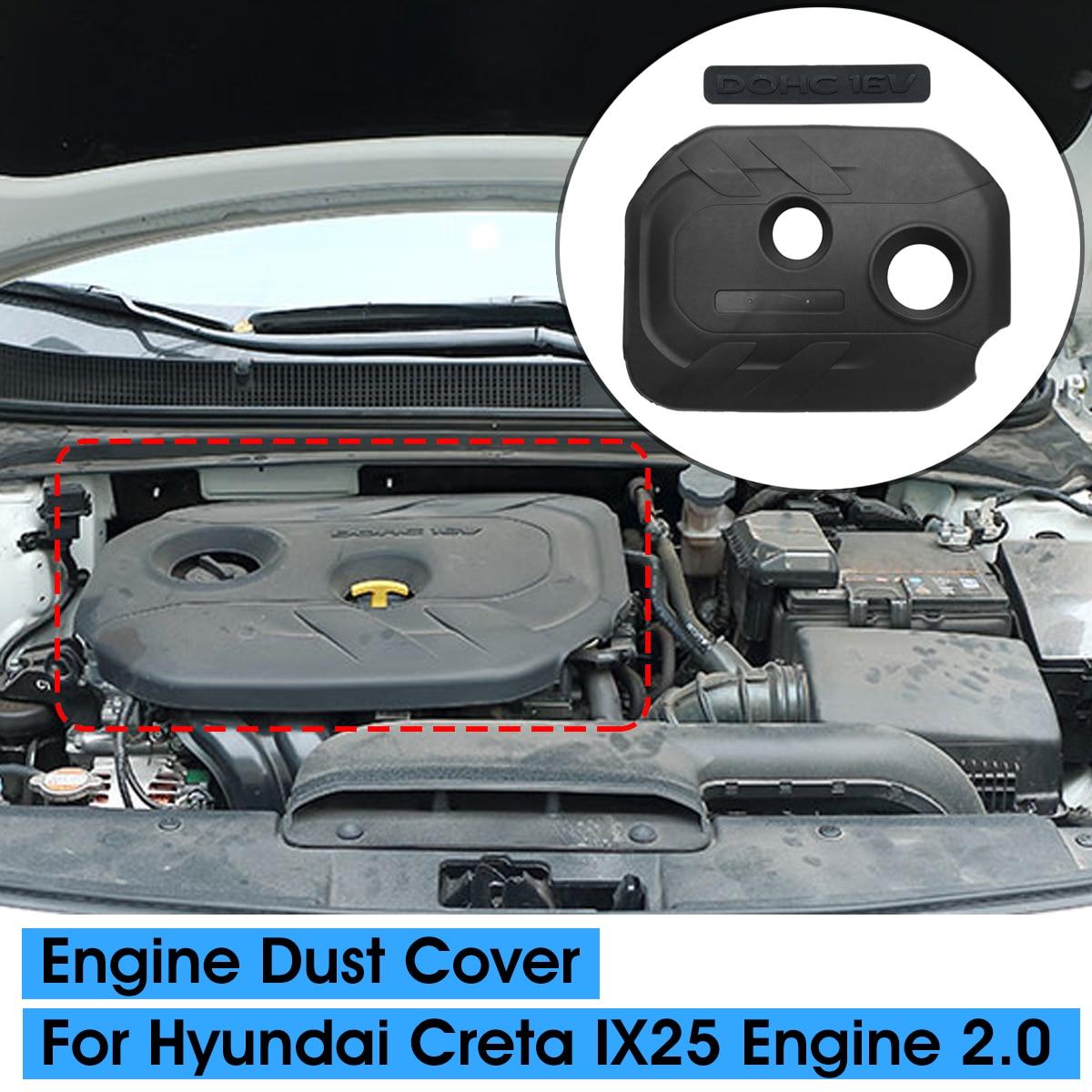 Пылезащитная крышка двигателя автомобиля 2,0 цитируемая крышка декоративная крышка Защитная крышка для Hyundai Creta IX25 2015 2016 2017 2018 2019 капот
