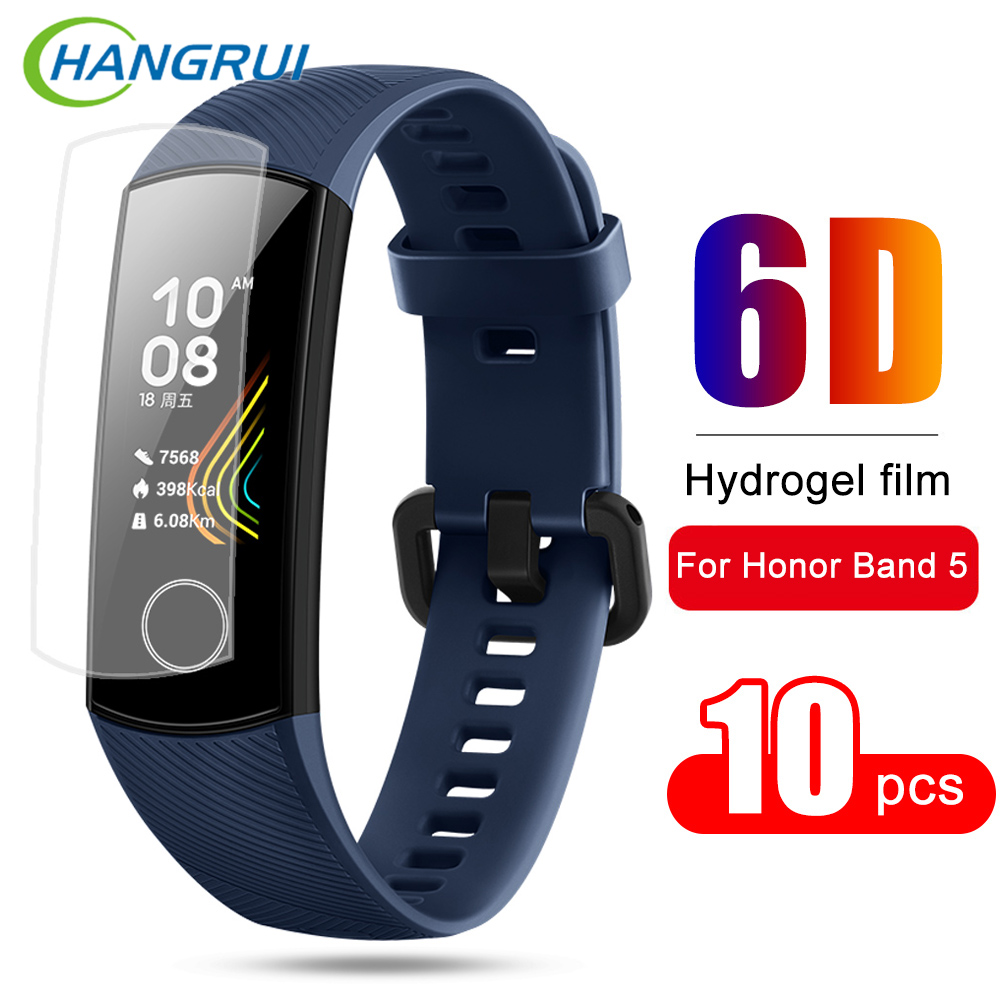 Screen-Protector-Film Honor Band Anti-Scratch Huawei For 9D Clear Hydrogel-Film 10pcs