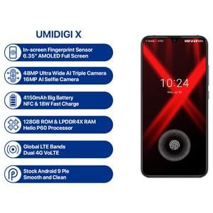 Image 3 - UMIDIGI X 4GB 128GB טלפון 6.35 AMOLED ואטארדרוף מסך אנדרואיד 9.0 עוגת אוקטה Core מהיר מטען 48MP מצלמה טביעות אצבע סלולרי מזהה