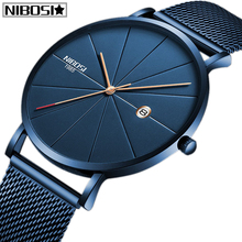 Relogio Masculino NIBOSI Men Watch Top Brand Luxury Analog Sports Wristwatch Display Date Men's Quartz Watches Business Watch curren luxury brand nylon strap analog display date men s quartz watch casual watch men sport wristwatch relogio masculino w8195
