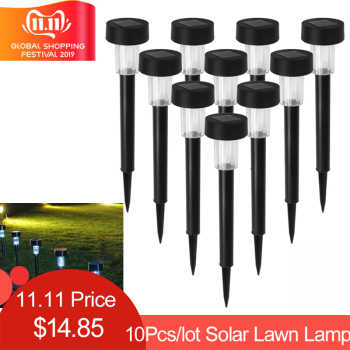 10pcs/lot LED Solar Landscape Powerd Light Waterproof Outdoor Solar Lamp Sun Light Landscape Spotlight for Garden Yard Path - DISCOUNT ITEM  24% OFF All Category