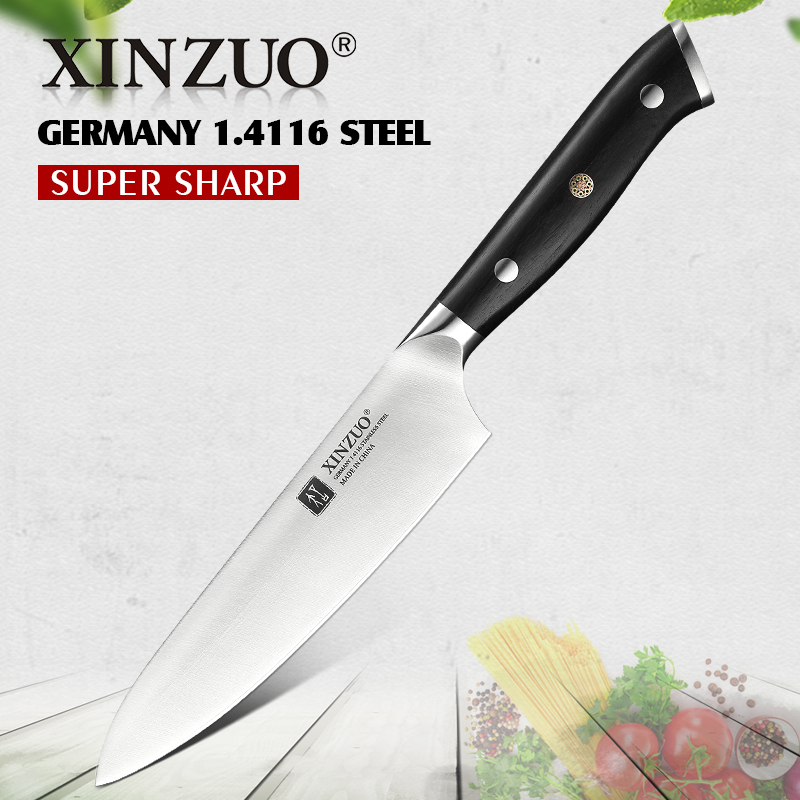 XINZUO 5'' inch Utility Knife Germany 1.4116 Steel Multi Function Utility Kitchen Knives Steel Sharp Cleaver Slicing Knives|Kitchen Knives| |  - title=