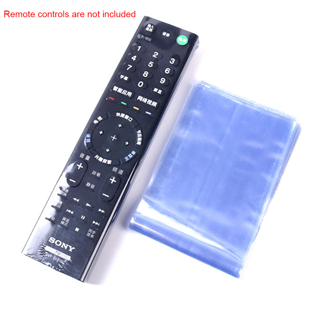 10pcs Television Accessories PVC Protective Cover Waterproof Heat Shrink Film Remote Controller Sleeve Case Durable Anti Scratch