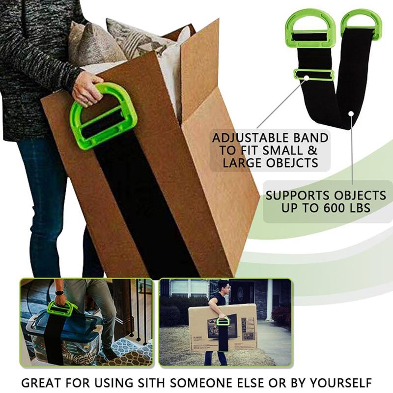 A mobília movente cintas do antebraço do pulso forklift que levanta cintas moventes para transportar ferramentas pesadas do cabo da corda da correia do transporte da mobília