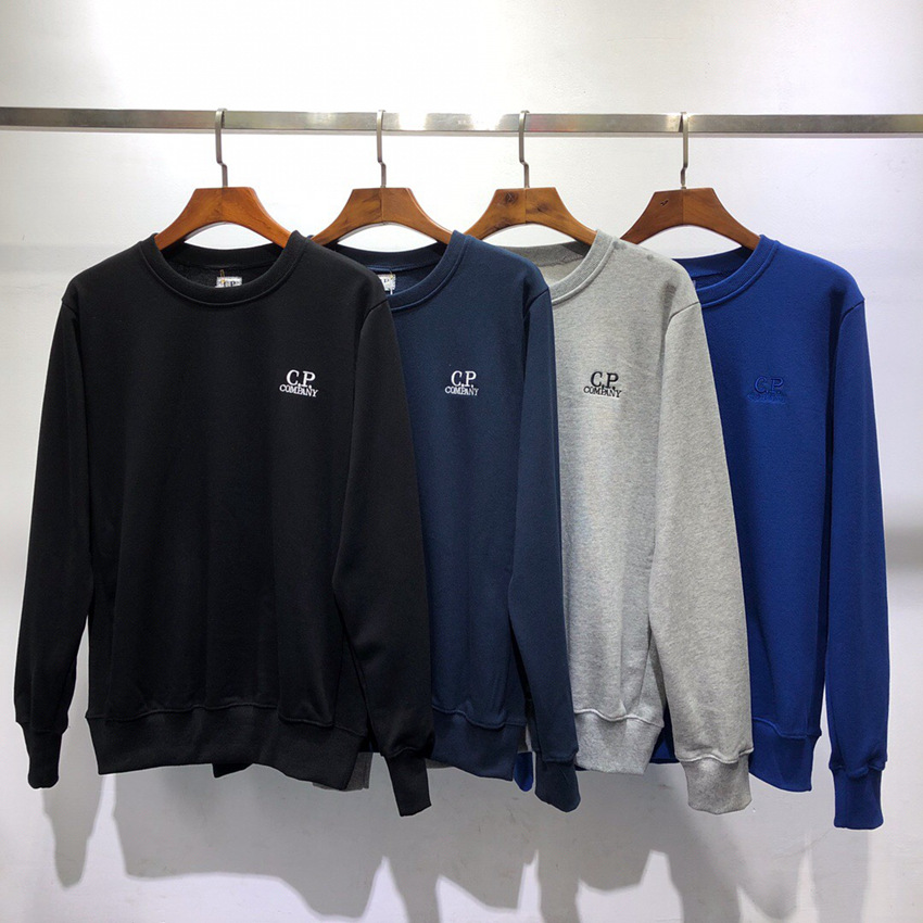 2019 Autumn And Winter Cpcompany Crew Neck Island Stone Loose-Fit Solid Color Simple BF Laziness-Style Men's Hoodie
