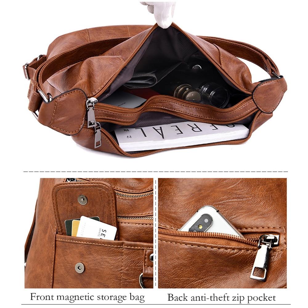 2020 NEW hot Women Leather Handbags Women Messenger Bags Designer Crossbody Bag Women Bolsa Top-handle Bags Tote Shoulder Bags 5