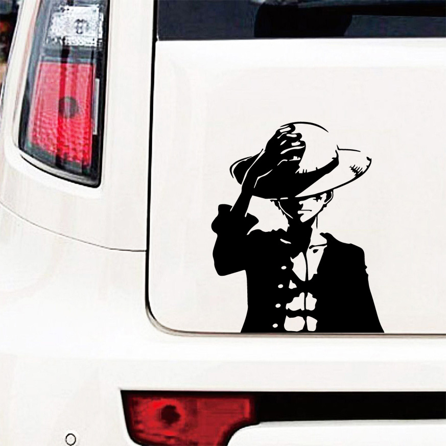 Car Body One Piece Car Sticker Monkey D Luffy Funny Wrap