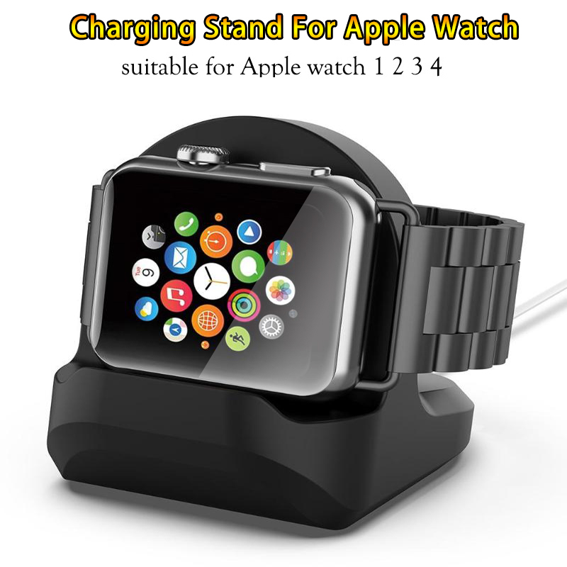 Silicone Charge Stand Holder Station Dock For Apple Watch Series 1/2/3 42mm 38mm Charger Cable For IWatch