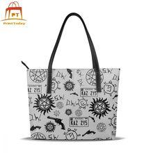 Supernatural Handbag Supernatural Top-handle Bags High quality Womens Leather Tote Bag Wide Women Handbags