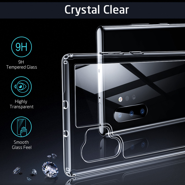 Samsung Galaxy Note 10 Note 10 Plus Tempered Glass Back Case Cover