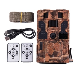ABKT-20MP 30ftp HD 1080P Trail Camera 48pcs LEDs IR Night Vision Waterproof Hunting Camera 2inch LCD Wildlife Camera for Home Se