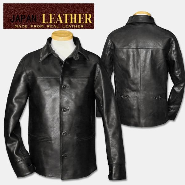 Free Shipping.Brand Classic Brakeman Horseskin Leather Coat,mens Genuine Leather Jackets,quality Leather Jacket.sales.slim