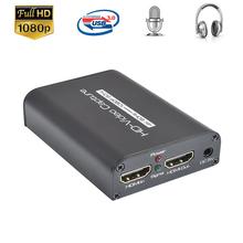 4K 60Hz HDMI Video Capture Card HDMI Zu USB 3,0 Video Capture Bord Spiel Record Live-Streaming Broadcast mic In Audio Out