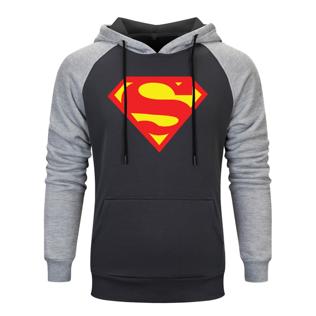 Fashion Autumn Superman Coat Men Super Heroes Hooded Sweatshirt Top Sudadera Hombre Comic Cool Superman Street Clothing