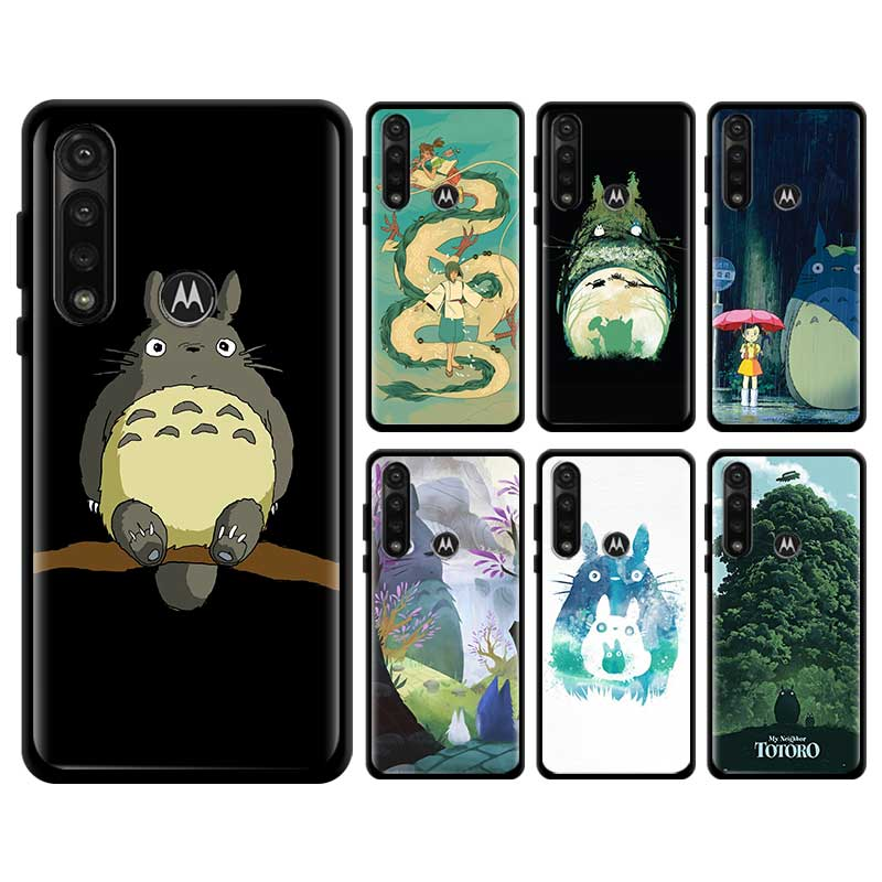 Anime Totoro Ghibli Spirited Soft Case For Motorola Edge Plus Moto G Stylus G8 Plue Play G Power Lite One Hyper E6s Cover