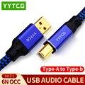 YYTCG Hifi USB кабель высокого качества от типа А до типа B Hifi кабель для передачи данных для DAC