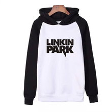 Lincoln Park Letter Print Brand Autumn Products Men's Woman Long Sleeve Hooded Raglan Sweatshirt Loose Casual Hoodie Man Female