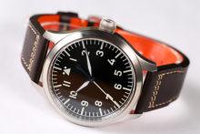 Escescapement time】automático pt5000 movimento piloto relógio com tipo-b ou tipo-um mostrador preto e 42mm caso impermeável 300m