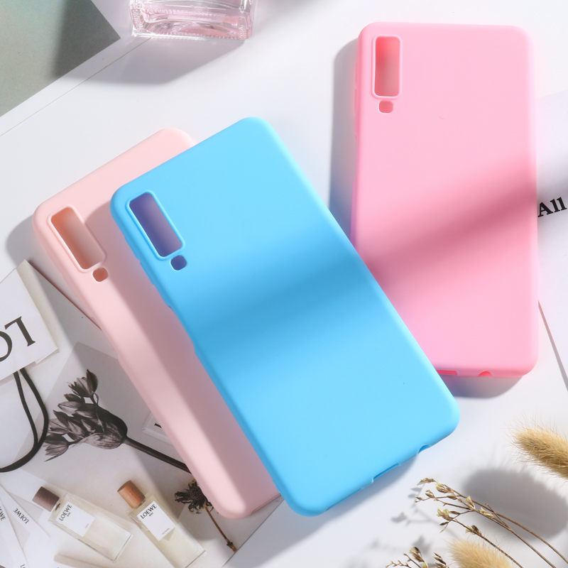 Candy Color Soft Case For Samsung Galaxy A10 A10S A20 A30 A20S A40 A50 A70 A90 5G A5 A7 2017 A6 A8 Plus 2018 A20E A2 Core Cover