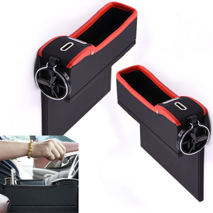 Image 2 - Car Seat Crevice Storage Box Cup Drink Holder Organizer Auto Gap Pocket Stowing Tidying For Phone Pad Card Coin Case Accessories