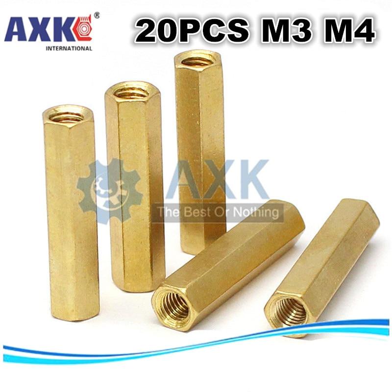 1Hexagonal M4 Male Brass Spacer Pillars Standoff PCB Hexagon Hex Stand Off Screw