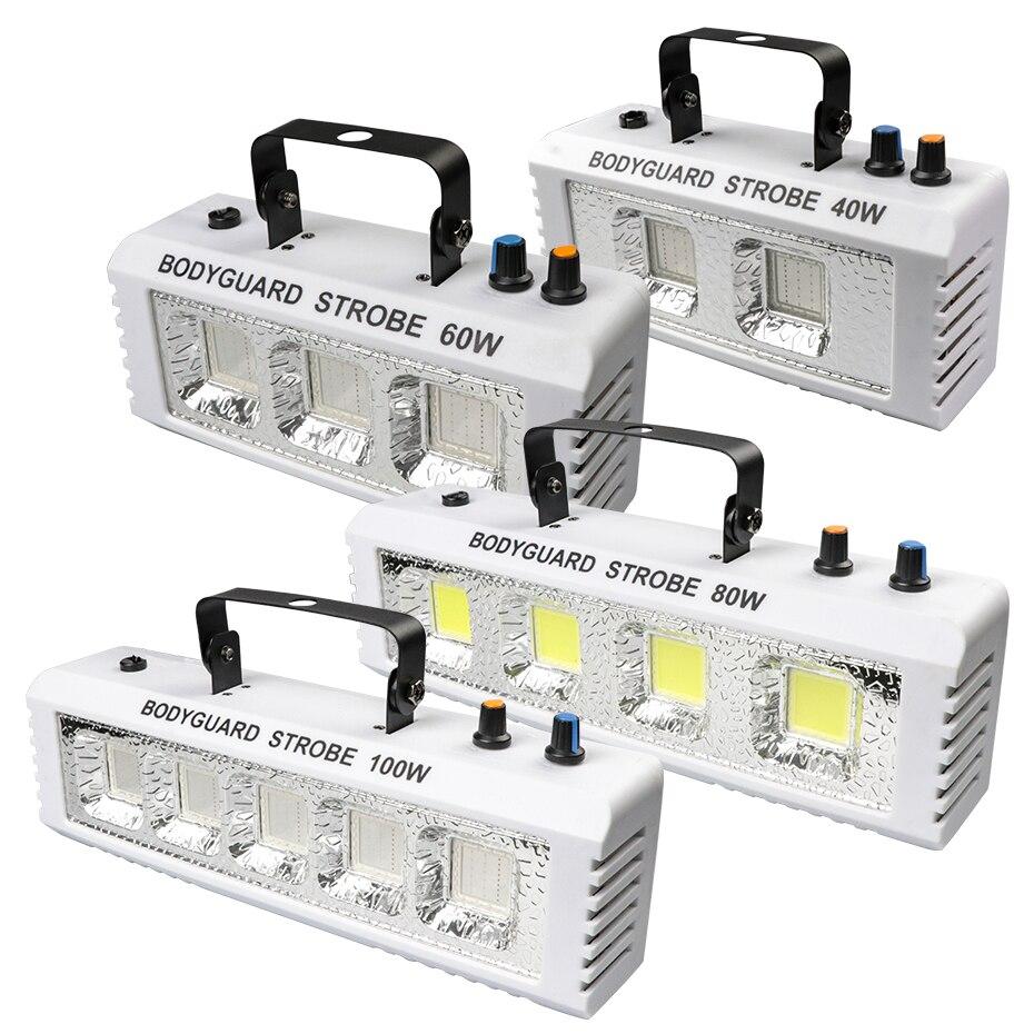 ALIEN RGB White DJ Disco Strobe Lights 40W 60W 80W 100W Remote Control Sound Flash Party Wedding Holiday Stage Lighting Effect 2