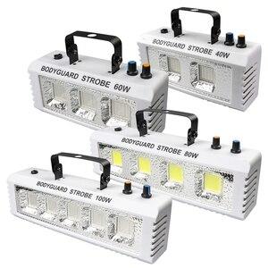 ALIEN RGB White DJ Disco Strobe Lights 40W 60W 80W 100W Remote Control Sound Flash Party Wedding Holiday Stage Lighting Effect