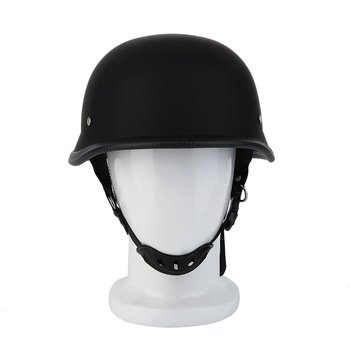 цена на Newest M/L/XL Motorcycle Helmet Matte Black German Style Vintage Durable Half Face German Helmet Motorcycle Helmet Hot Selling