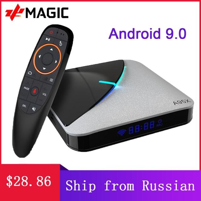 A95X F3 אוויר טלוויזיה תיבת אנדרואיד 9.0 RGB אור טלוויזיה תיבת Amlogic S905X3 8K Plex Media Server Google Play a95X F3 חכם טלוויזיה תיבה