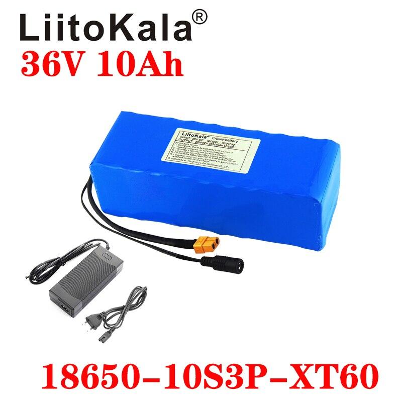 LiitoKala 36V 12AH 10ah 8ah 6Ah Batteria Elettrica Della Bici Costruito in 20A BMS Batteria Al Litio con 42V 2A Carica Ebike Batteria