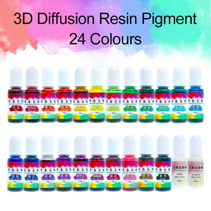 10 Ml Epoxy Resin Pigmen Cair Pewarna Tinta Dye Diffusion Resin Membuat Perhiasan